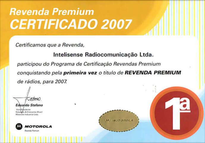 Certificado Revenda Premium 2007