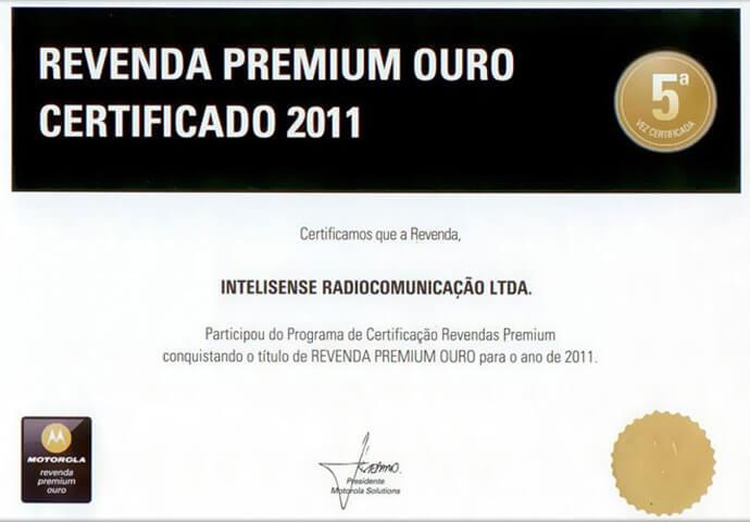 Certificado Revenda Premium Ouro 2011