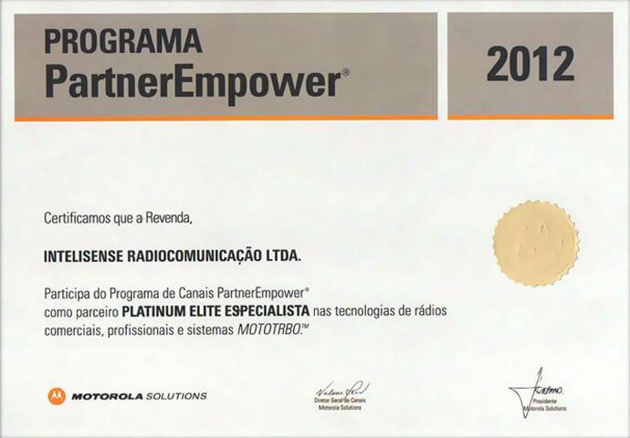 Certificado Platinum Elite Especialista 2012