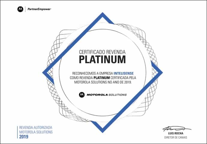 Certificado Revenda Platinum 2019