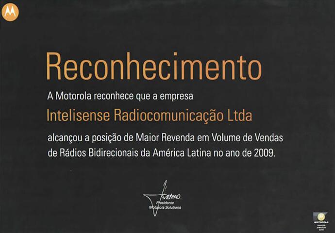 Reconhecimento de Maior Revenda da América Latina 2009