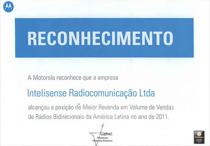 Reconhecimento de Maior Revenda da América Latina 2011